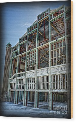 Wood Print featuring the photograph Asbury Park Casino And Carousel House by Lee Dos Santos