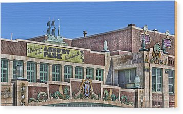 Wood Print featuring the photograph Asbury Park Convention Hall And Paramount Theatre  by Lee Dos Santos