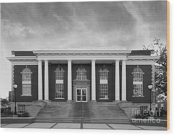 Asbury University Morrison Hall Wood Print by University Icons