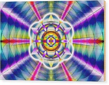 Wood Print featuring the drawing Ascending Eye Of Spirit by Derek Gedney
