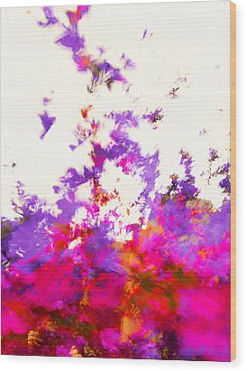Wood Print featuring the photograph Ascending Floral Abstract by Paul Cutright