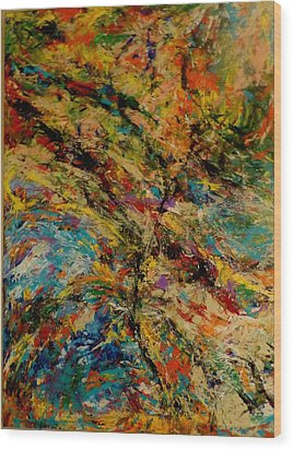 Ascension Abstraction Wood Print by Barb Greene mann