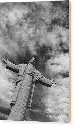 Ascent To Heaven Wood Print by James Brunker