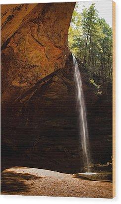 Wood Print featuring the photograph Ash Cave Rim by Haren Images- Kriss Haren