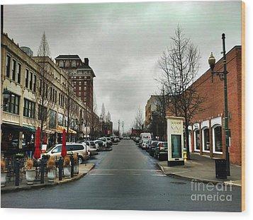Asheville North Carolina Wood Print by Janice Spivey