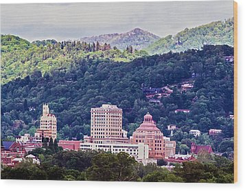 Asheville Painted Wood Print by John Haldane