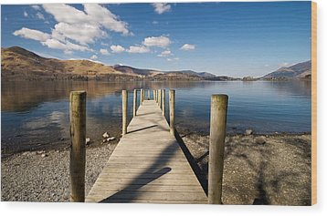 Ashness Jetty Wood Print by Stephen Taylor