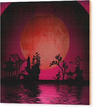 Asia Landscape  Wood Print by Bruce Rolff