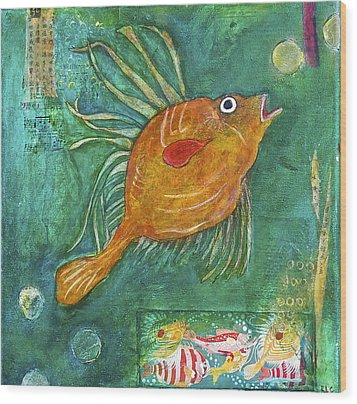 Asian Fish Wood Print