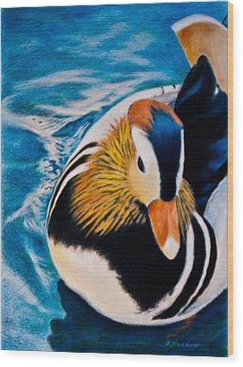 Mandarin Wood Duck Wood Print