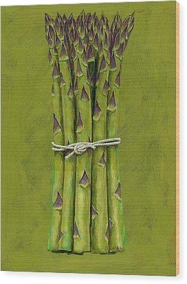Asparagus Wood Print by Brian James