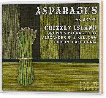 Asparagus Farm Wood Print