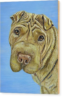 Beautiful Shar-pei Dog Portrait Wood Print