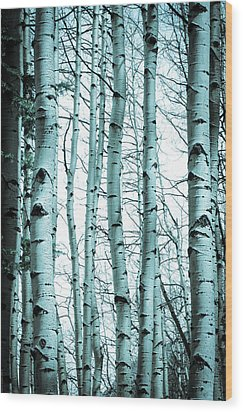 Aspen Blues Wood Print