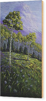 Aspen Blues Wood Print