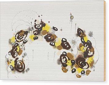 Aspen Celebration #3 Wood Print by Nadine Rippelmeyer