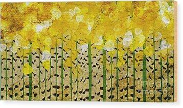 Aspen Colorado Abstract Panorama Wood Print