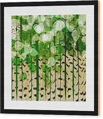 Aspen Colorado Abstract Square 2 Wood Print by Andee Design