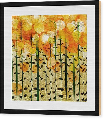 Aspen Colorado Abstract Square 4 Wood Print by Andee Design