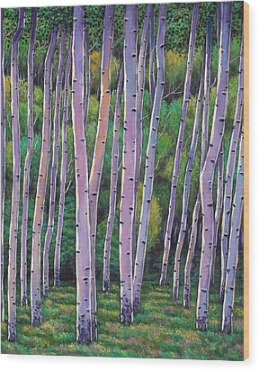 Aspen Enclave Wood Print by Johnathan Harris