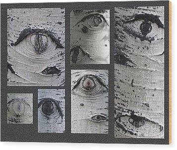 Aspen Eyes Are Watching You Wood Print