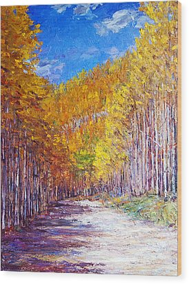 Aspen Glory Wood Print by Steven Boone