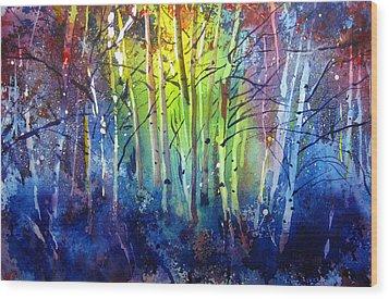 Aspen Grove Wood Print by Kris Parins