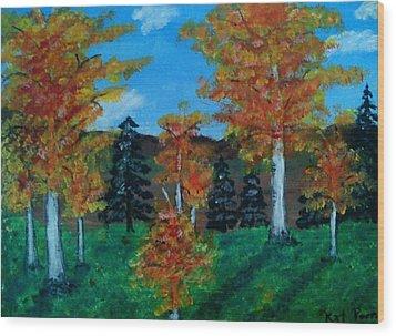 Aspen Wood Print by Kat Poon