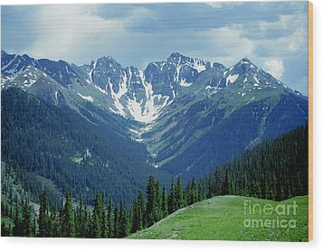 Wood Print featuring the photograph Aspen Mountain by Arthaven Studios