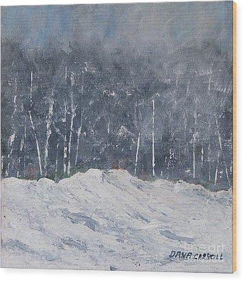 Aspen Ridge Blizzard Wood Print by Dana Carroll