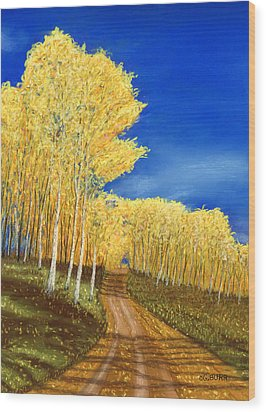 Aspen Road Wood Print