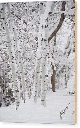 Aspen Snow Wood Print