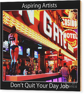 Aspiring Artists Wood Print by John Rizzuto