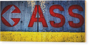 ASS Wood Print by Bob Orsillo