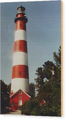Assateague Lighthouse Wood Print by Joann Renner