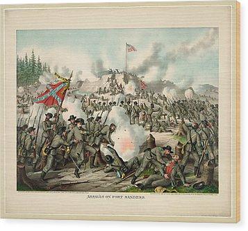 Assault On Fort Sanders Wood Print