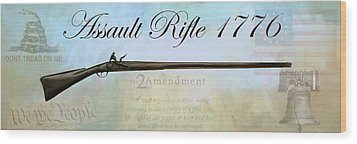 Assault Rifle Wood Print by GCannon