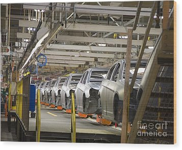 Wood Print featuring the photograph Assembly Line by Jim West