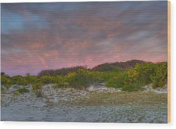 Asseteague Island Dune Sunrise Wood Print