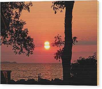 Wood Print featuring the photograph Association Island Sunset by Aimee L Maher Photography and Art Visit ALMGallerydotcom