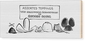 Assorted Toppings The Headgear Collection Wood Print by Lee Lorenz
