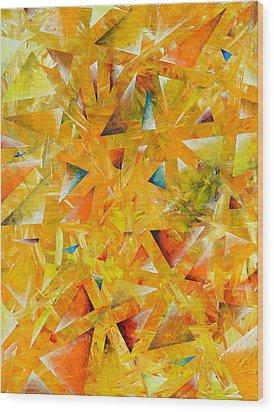 Asterisms Wood Print by Regina Valluzzi