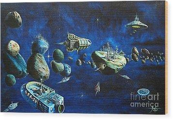 Asteroid City Wood Print by Murphy Elliott