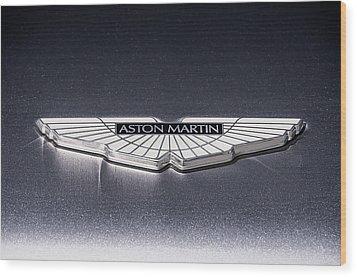 Aston Martin Badge Wood Print by Douglas Pittman