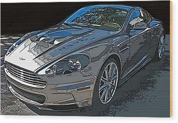 Aston Martin Db S Coupe 3/4 Front View Wood Print