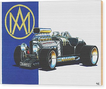 Aston Martin Hot Rod Wood Print