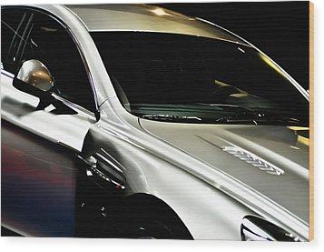 Aston Martin Rapide Wood Print