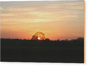 Wood Print featuring the photograph Aston Sunset by Elizabeth Lock