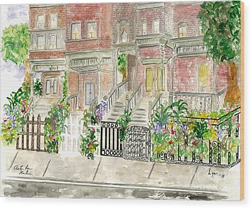 Astor Row In Harlem Wood Print