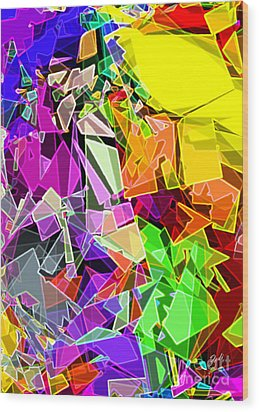 Wood Print featuring the digital art Astratto - Abstract 51 by Ze  Di